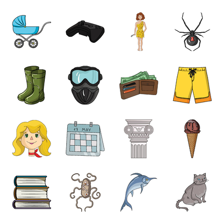 killer whale, dolphin, sea and other web icon in cartoon style. recreation, entertainment, tourism icons in set collection.