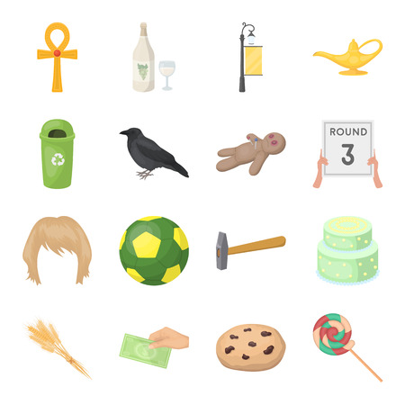 sports, recreation, cooking and other web icon in cartoon style.raisins, candy, sweets icons in set collection. Illustration