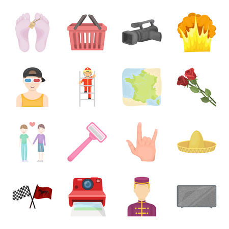 hotel staff: Sports, beauty, shopping and other web icon in cartoon style.Travel, mourning, cleanliness icons in set collection.