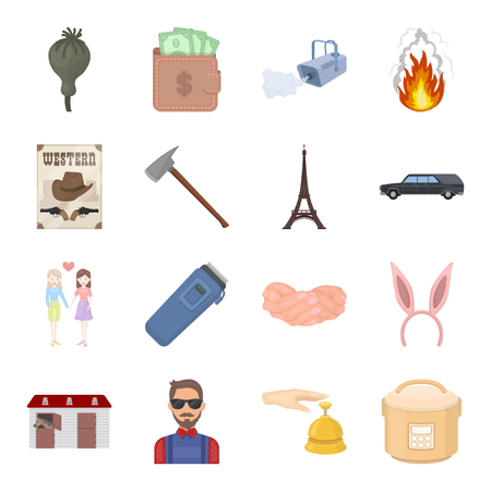 Security, sport, trade and other web icon in cartoon style.Service, electrical appliance, ritual icons in set collection. Illustration