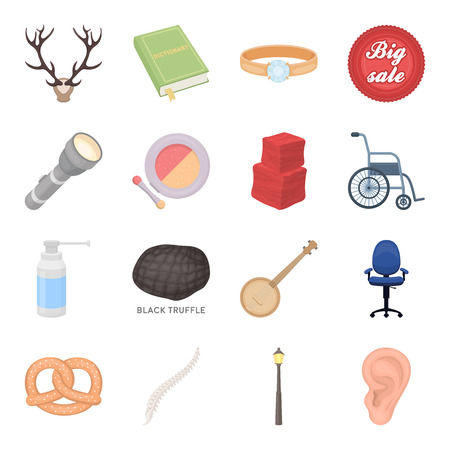 Business, lighting, celebration and other web icon in cartoon style.Medicine,health, education icons in set collection.