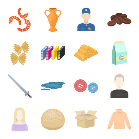 trade, business, hobby and other web icon in cartoon style.box, toys, sweater icons in set collection. Illustration