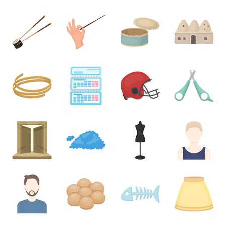 trip, business, hobby and other web icon in cartoon style.bone, ram, skirt icons in set collection. Illustration