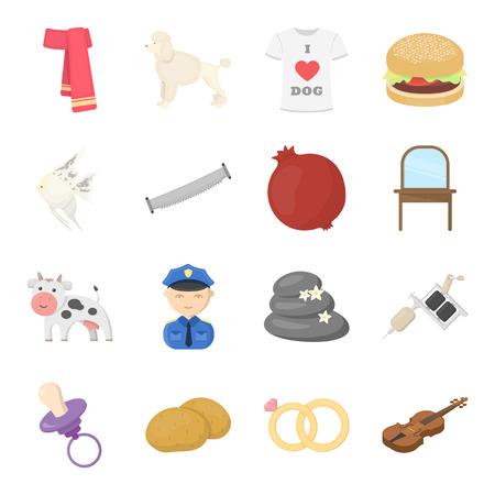 hobby, training, trade and other web icon in cartoon style.music, recreation, event icons in set collection.