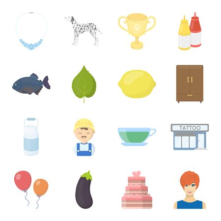 business, nature, achievements and other web icon in cartoon style.girl, haircut, resticons in set collection. Illustration