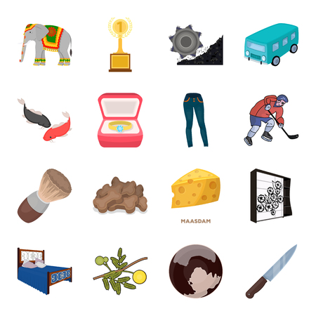 bedspread: Transport, mine, space and other web icon in cartoon style.Furniture, sport, wedding icons in set collection.