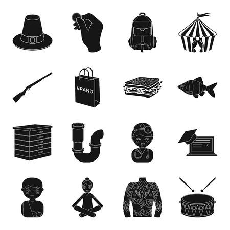 Stationnement, armes, achat et autre icône web de style noir. nourriture, plomberie, profession Banque d'images - 81494589