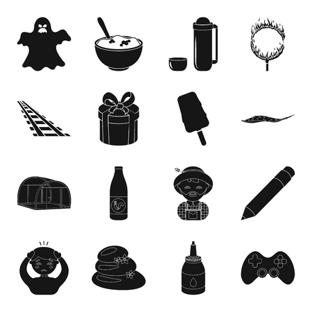 game, magic, illness and other web icon in black style.plumbing, transport, dessert Illustration