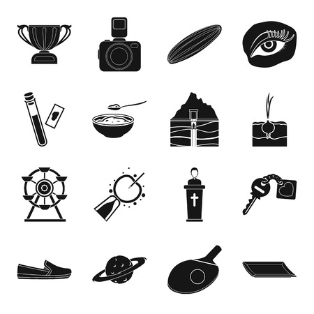 Sports, gynecology, park, farm and other web icon in black style.medicine, makeup, astronomy icons in set collection.