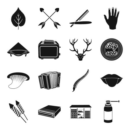 Medicine, kitchen, gay, hunting and other web icon in black style. symbol, hairdresser, body icons in set collection.