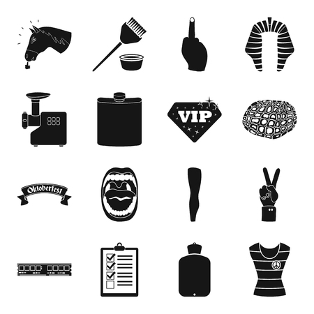 Medicine, kitchen, computer and other web icon in black style. hunting, animal, hairdresser icons in set collection.