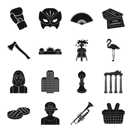 pillar box: Architecture, sport, theater and other web icon in black style.printing, weather, tool icons in set collection.