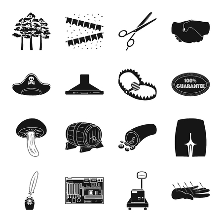 groin: Acupuncture, computer, logistics and other web icon in black style. medicine, hairdresser, equipment