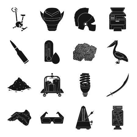 theatre masks: Turkey, food, sports, advertising, drug and other web icon in black style. weather, theater, cinema icons in set collection. Illustration