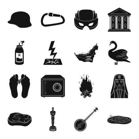 Addiction, Turkey, weather and other web icon in black style.food, cinema, music icons in set collection.