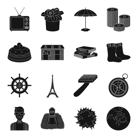 tv tower: Astronomy, memory, travel and other web icon in black style.adventure, dessert, business, leisure Illustration
