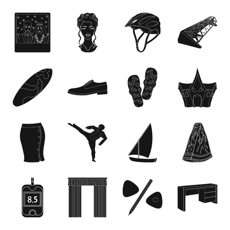 Medicine, sport, wedding and other web icon in black style. atelier, furniture,travel icons in set collection.