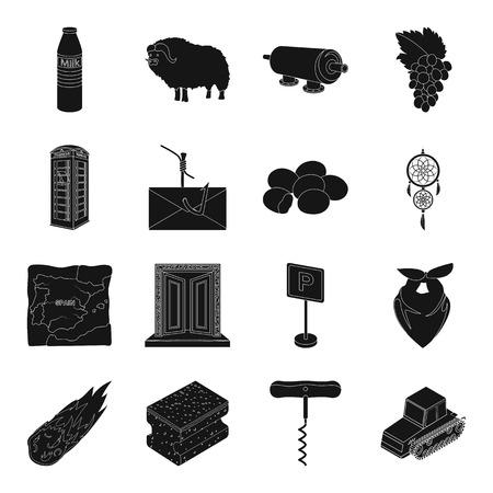 meteoriet, aambeeld, kurkentrekentractor, transport, ei, voedsel Stock Illustratie