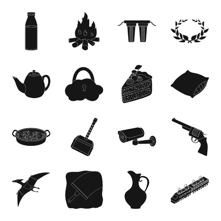 Greece, transport, travel, Spain and other web icon in black style.antiquity, animal, wild, West icons in set collection.