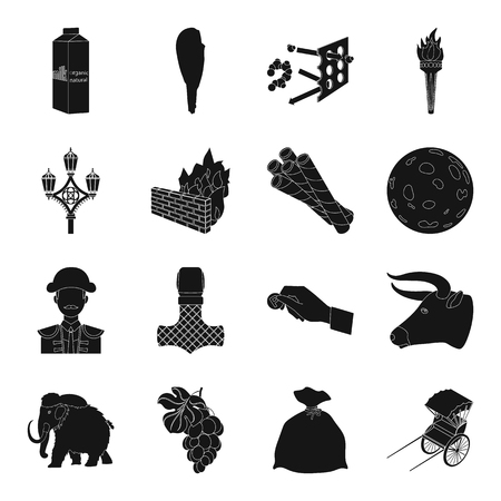 hedge: Transport, parking, dessert and other web icon in black style.hedge, antiquity, product, animal icons in set collection.