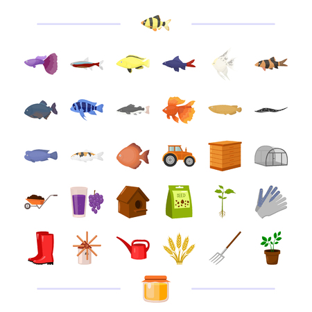 Business, nature, agriculture, and other  icon in cartoon style., honey, fauna business icons in set collection