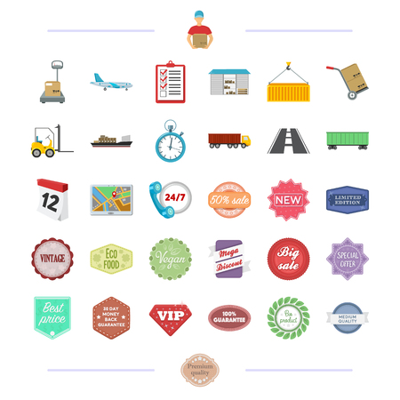 advertising, river, travel and other  icon in cartoon style. business, production, transport icons in set collection. Illustration
