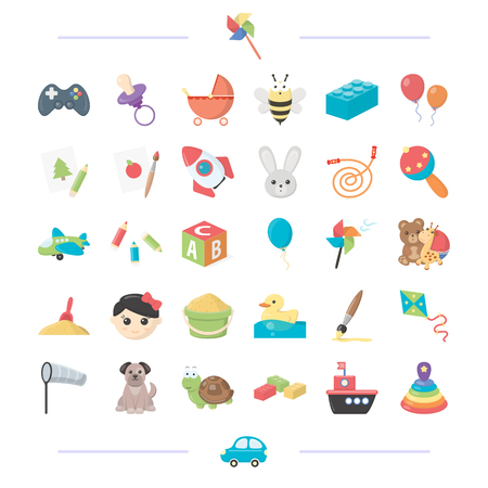 Technology, leisure, business and other web icon in cartoon style. car, toys, entertainment, icons in set collection.
