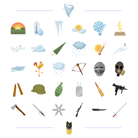 Competition, sport, war and other web icon in cartoon style.nature, weather, hunting, icons in set collection.