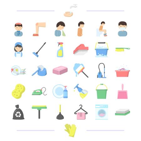 Hygiène, médecine, entreprise et autre icône web de style.machine, gants, laver, icônes de la collection de jeux.