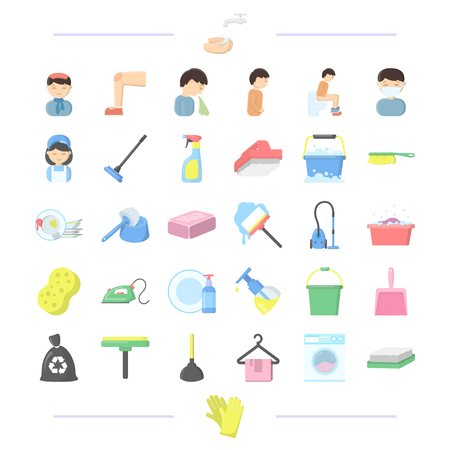 Hygiene, medicine, business and other web icon in cartoon style.machine, gloves, wash, icons in set collection.