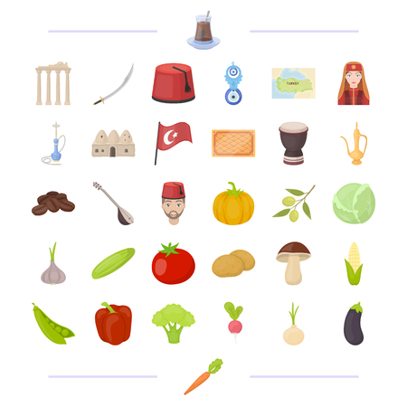 Entertainment, history, Flora and other web icon in cartoon style.vegetable, tourism, recreation icons in set collection.
