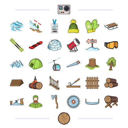 Forest, nature, business and other web icon in cartoon style. sport, competition, tourism, icons in set collection.