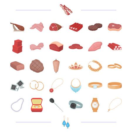 Alimentation, affaires, loisirs et autre icône web en cartoon style.silver, cadeaux, traite les icônes dans la collection de jeu., Banque d'images - 81435600