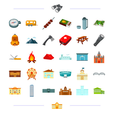 Nature, entertainment, industry and other web icon in cartoon style., complex, recreation, tourism, icons in set collection.