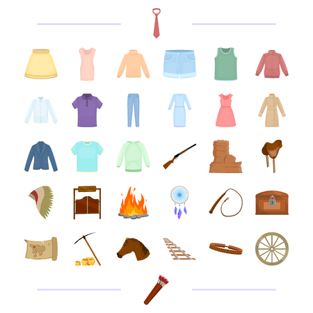 tourism, America, cowboys and other web icon in cartoon style.knitwear, accessories, travel,icons in set collection. Illustration