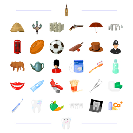 Dentist, medicine, England and other web icon in black style.traditions, travel,hygiene icons in set collection.