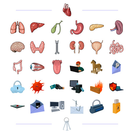 Organs, medicine, health and other web icon in black style.technology, robbery, crimes icons in set collection.