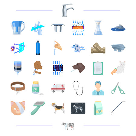 phonendoscope: Clinic, animal, hygiene and other web icon in black style.health, plant icons in set collection. Illustration