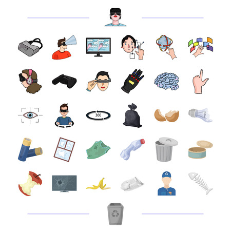 Urn, technology, computer and other web icon in black style. ecology, garbage, dump icons in set collection. Illustration