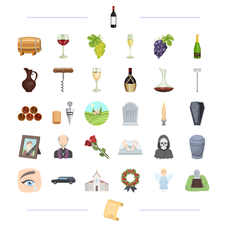 Trawl, ritual, religion and other web icon in black style.alcohol, winemaking, viticulture icons in set collection.