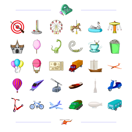 Entertainment, ecology, sport and other web icon in cartoon style transport, leisure, business, . icons in set collection.
