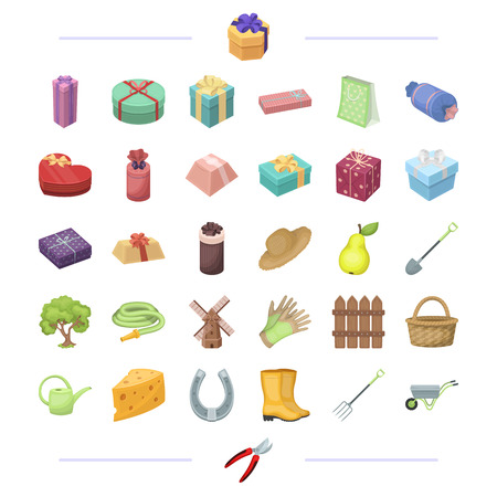 Processing, business, commerce and other web icon in cartoon style.rural, farming, cottage, icons in set collection.