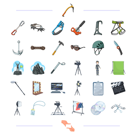 discs: Mountaineering, sport, hobbies and other web icon in cartoon style. shooting, mouse, tourism, icons in set collection. .