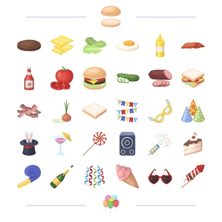 cooking, vegetables, food and other web icon in black style.holiday, birthday, fun icons in set collection. Illustration