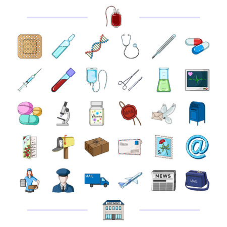 phonendoscope: medicine, health, medicine and other web icon in black style.mail, delivery, transport icons in set collection.