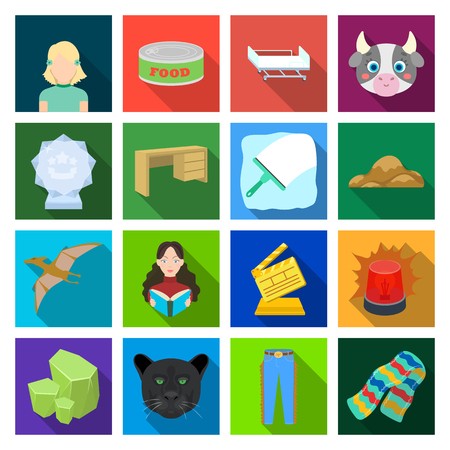 , history, jersey, business and other web icon in flat style., travel, tourism, education icons in set collection.