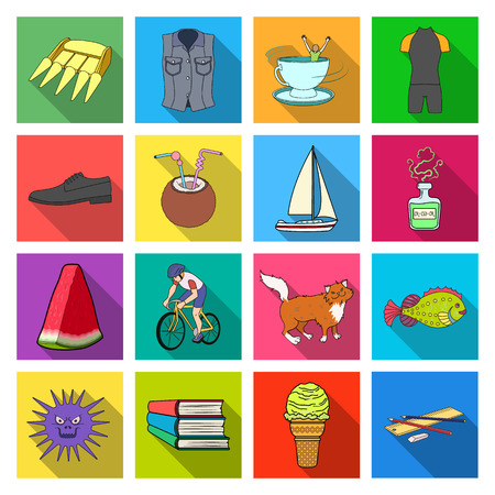 cat suit: ecology, hygiene, business and other w icons in set collection.eb icon in flat style medicine, tourism, entertainment, .