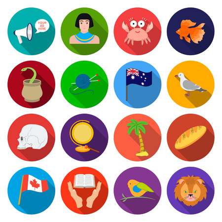 business, head, sport and other web icon in flat style.enlightenment, circus, textile icons in set collection.