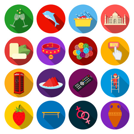 fireman: hygiene, history, business and other web icon in flat style.celebration, tourism, restaurant,style. Stock Photo
