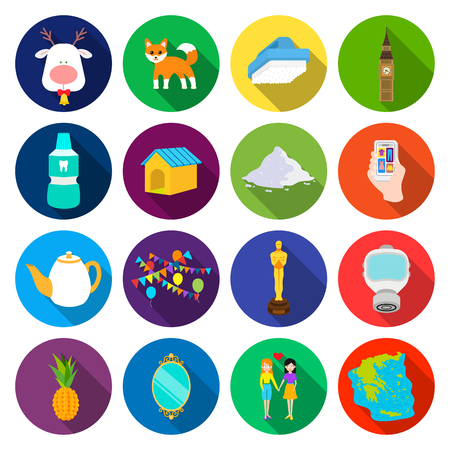 tourism, leisure, business and other web icon in flat style. friendship, sea, cantinent icons in set collection. Illustration